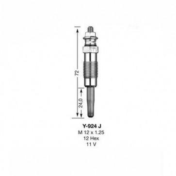 NGK Glow Plug Y-924J (3473)