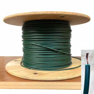 7mm HT Ignition Lead Cable - Wire Core PVC Green - 100 Meter Roll