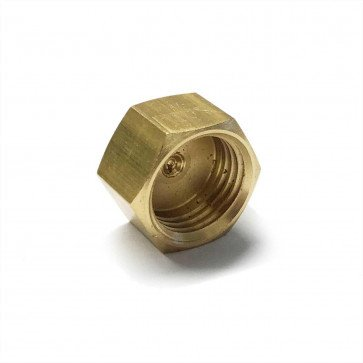 "Brass Cap Nut 1/4"" BSP - Petrol Fuel Pipe"