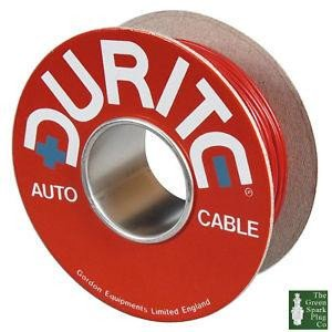 Durite 3-953-00 PVC Cable Flat Twin 28/0.30mm Red/Black 100M