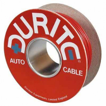 Durite - Cable Flat Twin Thin Wall  28/0.30mm Red/Black PVC 30M - 0-953-50