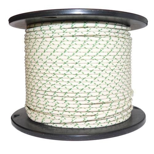 1M Cotton Braided Automotive Electrical Wire Cable 16 Gauge White /& Green Fleck