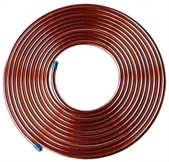 "5 female nuts 5 short male 25ft Brake Copper Pipe Tube 3//16"" OD x 0.131"" ID"