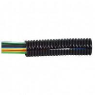 1 Metre Durite - Convoluted Split Black Nylon Tubing 10 NW  - 0-331-10