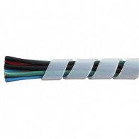 1 Metre Durite - Spiral Cable Binding 6.4mm White Nylon - 0-332-51
