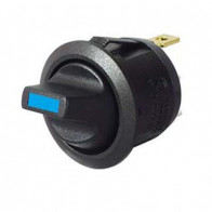 Durite - Switch Toggle Round On/Off Blue LED 12/24 volt Cd1 - 0-531-52