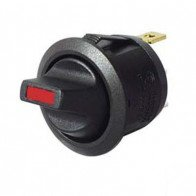 Durite - Switch Toggle Round On/Off Red LED 12/24 volt Cd1 - 0-531-55