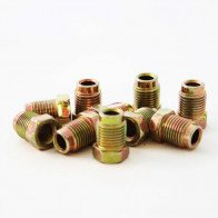 10 x Steel Short Male Brake Pipe Tube Tubing Nut For 3/16 Pipe 10mm x 1mm Thread