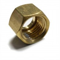 "Solder Nut Copper Petrol Fuel Pipe 1/4"" BSP - For 1/4"" & 5/16"" OD Tube"