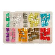Assorted Standard Blade Fuses Box Qty 80 | Connect 31856