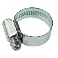 25-40mm W1 Zinc Coated Steel Clip Fuel Air Water Worm Hose Clamp 10 Pack