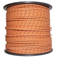 1M Cotton Braided Automotive Electrical Wire Cable 18 Gauge Brown & Black Red Fl