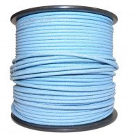 1M Cotton Braided Automotive Electrical Wire Cable 18 Gauge Blue