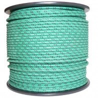 1M Cotton Braided Automotive Electrical Wire Cable 18 Gauge Green & Black Fleck