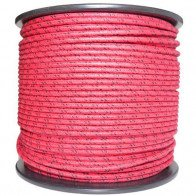 1M Cotton Braided Automotive Electrical Wire Cable 18 Gauge Red & Black Fleck