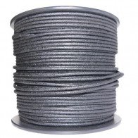 1M Cotton Braided Automotive Electrical Wire Cable 18 Gauge Black