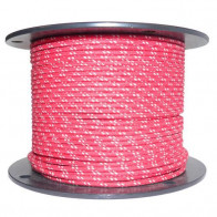 1M Cotton Braided Automotive Electrical Wire Cable 16 Gauge Red & White Fleck