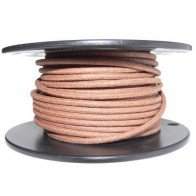 1M Cotton Braided Automotive Electrical Wire Cable 16 Gauge Brown