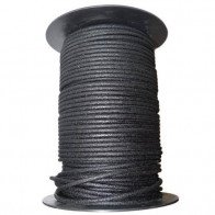 1M Cotton Braided Automotive Electrical Wire Cable 12 Gauge Black