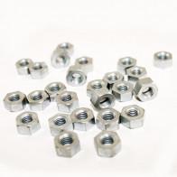 """GS04034 - Bar Turned Hexagonal Nut.1/4"""" CEI 26 TPI (Pk 25)."""