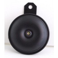 GS35103 - Horn - UNIVERSAL Black 12v , 92mm dia ,90mm length,8mm hole.