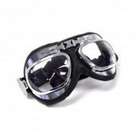 GS46011 - EMGO Goggles - Leather/Chrome Frame Oval Style.