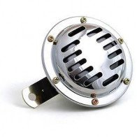 GSHEL004 - HORN - UNIVERSAL Chrome plated 12v,100mm dia,90mm length.