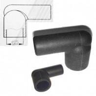 4x HT Silicone PVC insulators for distributor coil - 7mm 8mm Right Angle Black