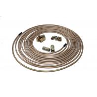"25ftx Cupro Copper Nickel Brake Pipe 3/16"" 5x Male & Female Nut 2x Joiner 10x1mm"