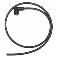 7mm HT Ignition Lead Cable Copper Core Silicoln Black Motorcycle Fitted End PMC1