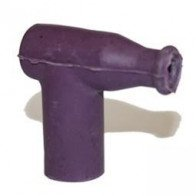 Spark Plug Cap - Rubber Waterproof - Nut Terminal Purple