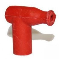 Spark Plug Cap - Rubber Waterproof - Nut Terminal Red