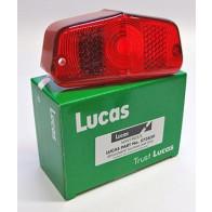 Lucas L564 Rear Lamp Lens 573839 LU53454 Triumph BSA Norton AMC Tail Light Case