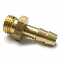 "Brass Hose Tail Male BSP Parallel 5/16"" I/D Hose - 1/4"" BSP - Petrol Fuel Pipe"