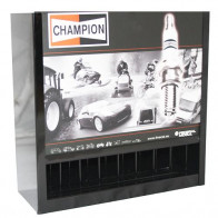 Champion Spark Plug Dispenser Cabinet Wall Mounted - Storage Columns 80 Plugs