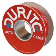 Durite - Cable Single 14/0.30mm Black/Green PVC 50M - 0-942-14