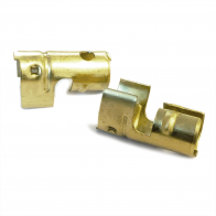 4x HT Brass push in terminal for distributor coil - 7mm 8mm Straight Crimp Type