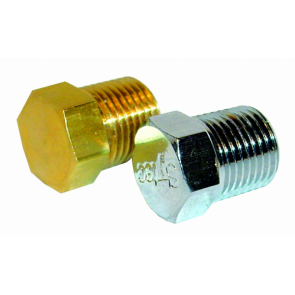 1x Malpassi Guage Port Balanking Plug (Brass) (RA018)